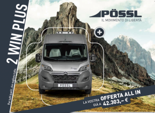 Camper Camper - Puro - POSSL 2Win - Plus Citroen 160cv 3,5t ( ELEGANCE + TRUMA DIESEL)